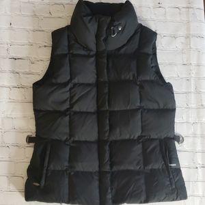 Eddie Bauer Black Goose Down Vest 700 Fill Sz Med.